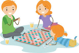 Playing Board Games Clipart