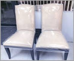 Dining Chair Seat Protectors Set Of 4 Lovely Clear Plastic Back Covers O