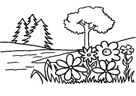 Garden Flower Coloring Pages PagesFull Size Image
