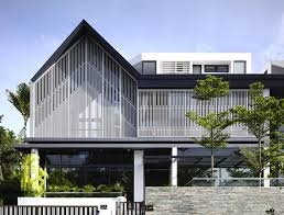 Pitched Roof House Designs Photo by Semi Detached House In Singapore Interiorzine