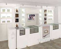 JE14 White Wooden Jewelry Display Cases For Pandora