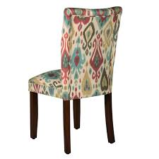 HomePop Parson Deluxe Multi-color Ikat Dining Chairs (Set Of 2) Lily Navy Floral Ikat Accent Chair Navy And Crimson Ikat Ding Chair Cover Velvet Ding Chairs Tufted Blue Meridian Fniture C Angela Deluxe Indigo Pier 1 Imports Homepop Parson Multicolor Set Of 2 A Quick Living Room And Refresh Stripes Whimsy Loralie Upholstered Armchair With Walnut Finish Polyester Stunning And Brown Ideas Ridge Table Eclectic Decatorist Espresso Wood Ode To The Skirted Katie Considers