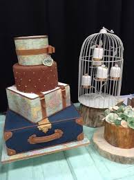 Rustic Vintage Travel Wedding Cake Theme Beautiful Check Them