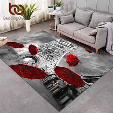 beddingoutlet roten regenschirm große teppich für wohnzimmer boden matte turm brücke auf themse bereich teppich 152x244cm