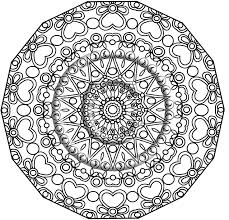 Printable Download Coloring Page Hand Drawn Zentangle Inspired Abstract Zendoodle Mandala Lineart 220