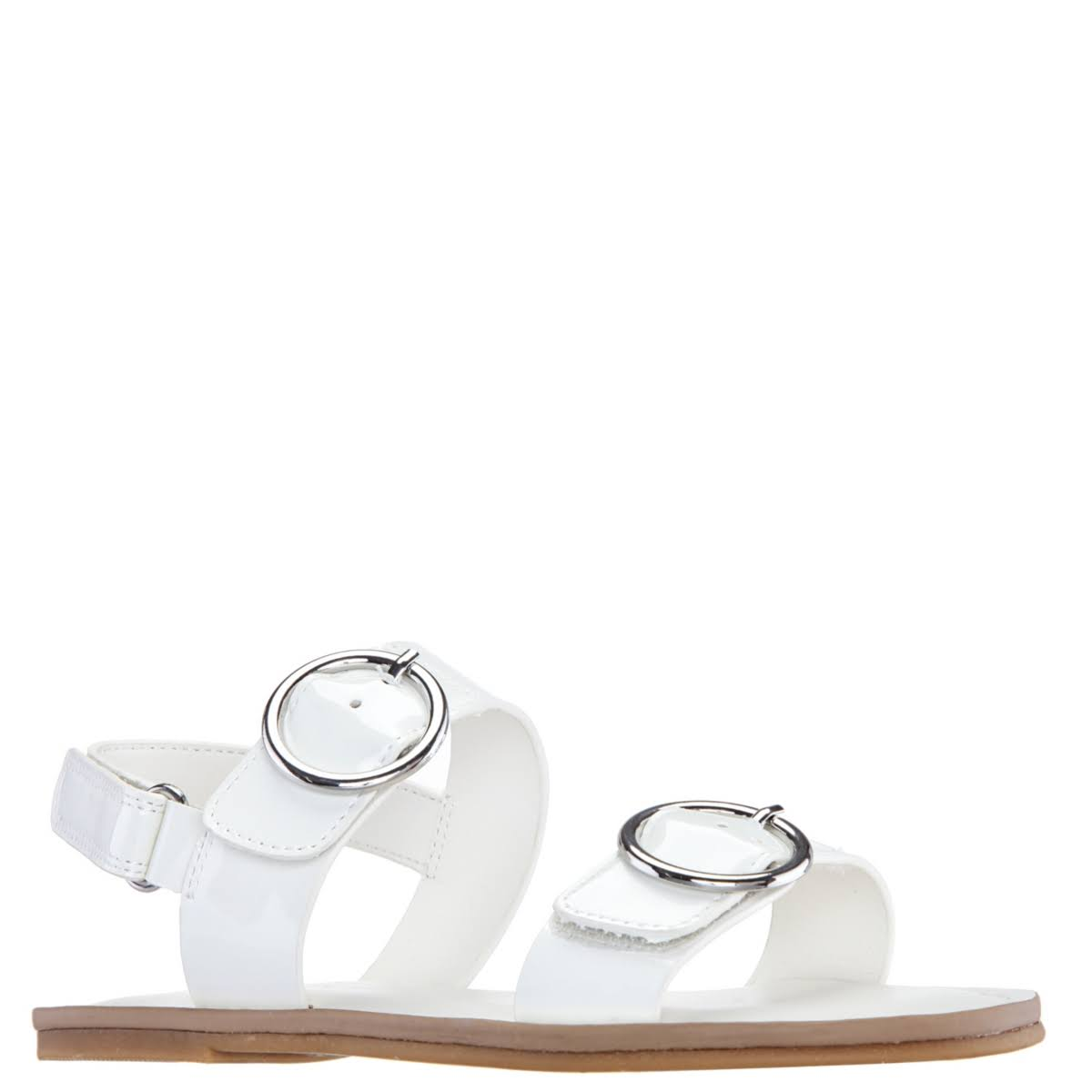 Girls Nina Brunny Flat Sandals White