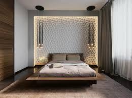 originale schlafzimmer mit heller beleuchtung dekoration