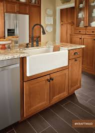 Homecrest Cabinets Vs Kraftmaid by This Farmhouse Kitchen Sink Base Represents Just One Of The