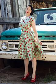 40s francine dress in light green