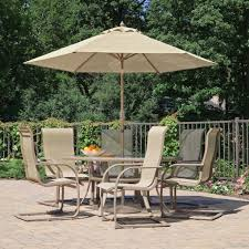 Kmart Outdoor Dining Table Sets by Costway Pcs Patio Garden Set Furniture Umbrella Gray With Striking