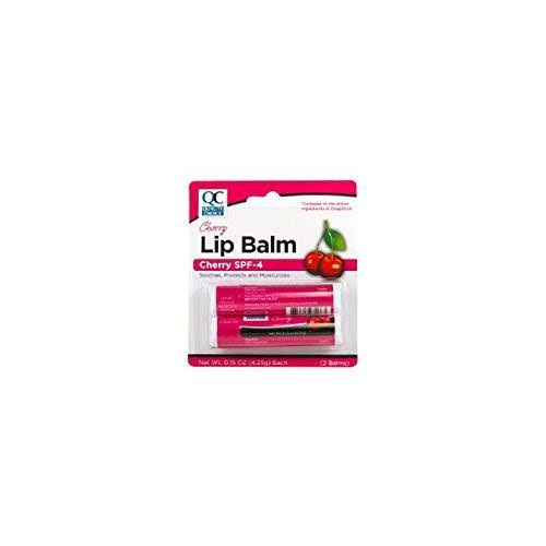 Quality Choice Cherry Lip Balm with Spf-4 Twin Pack 0.30 Ounce Each