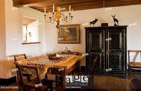 Stock Photo Antique Table Chairs And An Armoire In The Secondary Dining Room Of