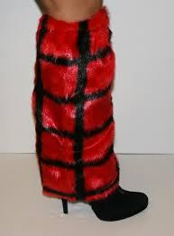 furry leg warmers explicit shoes inc