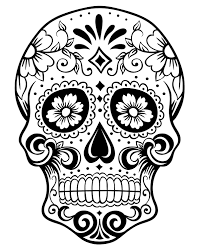 Pleasurable Ideas Day Of The Dead Coloring Pages Printable Sugar Skull Page