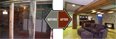 Unfinished Basement Before And After Fresh In Classic Well Suited