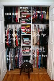 Small Closet Lots Of Clothing
