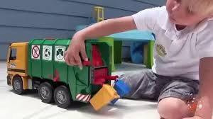Toy Garbage Truck Videos For Children Toy Bruder Garbage Trucks For ...