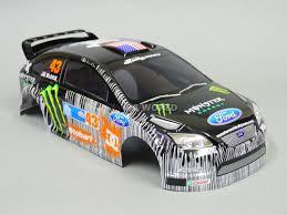 100 Monster Energy Rc Truck 110 RC Car BODY Shell FORD FOCUS Rally KEN BLOCK