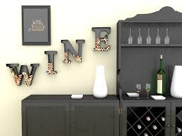 Amazon Wine Letter Cork Holder Art Wall Decor Metal All 4 Letters W I N E Gifts For Lovers Includes Sample Silicone Glass Charm