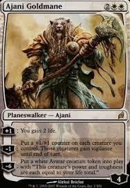 magic the gathering cards lorwyn ajani goldmane