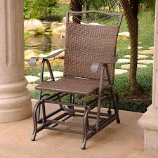International Caravan Patio Glider Chair In Antique Brown Finish