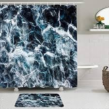 kissensu badezimmer vorhang set grün schwarz blau design