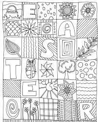 Easter Coloring Pages For Adults Eggs