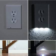 wall outlet with light covers built in led lights if
