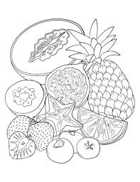 Luxurious And Splendid Tropical Fruits Coloring Pages Printable Fruit Page Free PDF Download At Http