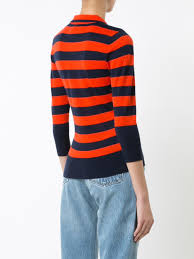 frame denim online sale frame denim striped collar jumper red