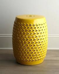 Ceramic Garden Stool Theoneart Club Pertaining To Yellow Plan 8