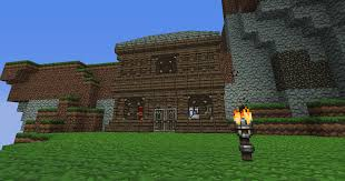 The Entrance To House As You Can See I Built It Into Side Of An Island Was Actually Spawned On Which Pretty Nice
