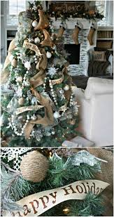Burlap Tree Christmas Decoration Ideas