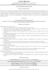 New Police Officer Resume Examples Combined With Free Sample Law Enforcement