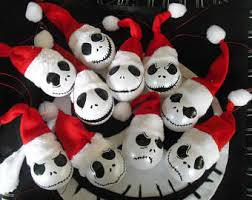 Nightmare Before Christmas Tree Toppers Bauble Set by Nightmare Before Christmas Tree Ornamentshand Painted