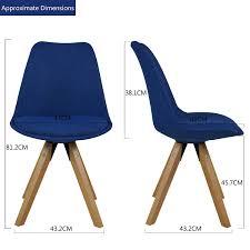 stuhl esszimmerstühle blau küchenstühle 2 er set mit