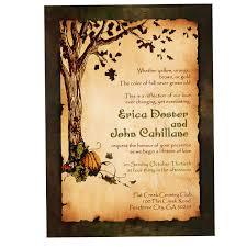 Vintage Rustic Pumpkin And Autumn Tree Wedding Invitation Fall Pumpkins DEPOSIT