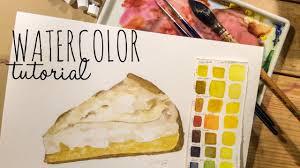 How to use Watercolor Tutorial Food Illustration Lemon Meringue Pie in Hyper Realism