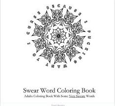 Swear Word Coloring Book Adults Words Patterns Color Designs Fun Stress