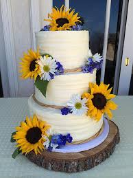 Wedding Cakes With Sunflowers Sunflower Interesting Rustic Cake Ideas