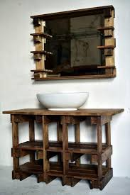 Pallets Wood Bathroom Mirror And Vanity Wood Bathroom Bathroom