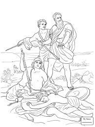 Christianity Bible David Helps Mephibosheth Coloring Pages