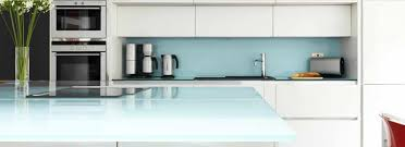 Divine Renovations Glass Backsplash Splashback Light Blue Soft