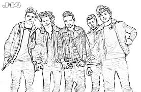 Spectacular Idea One Direction Printable Coloring Pages 16 10 6 J 14