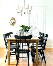 Black Wood Dining Chairs Farm House Chair Breathtaking Farmhouse Table With Lt