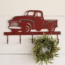 Rustic Pickup Truck Decorative Wall Hooks
