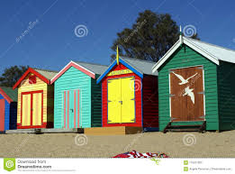 100 Beach Shack Designs Brightly Colored S On Brighton Stock Photo