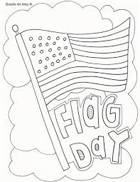 Flag Day Coloring Pages