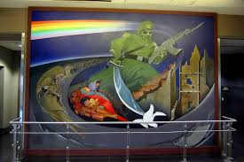 denver international airport murals pictures denver denver international airport the children of th flickr