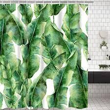 modernes timesm badezimmer dusche vorhang grün blätter badezimmer vorhang langlebig bad vorhang badezimmer zubehör ideen küche fenster vorhang